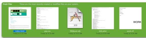 Mantenga fresca su lista de archivos - Sólo Mac