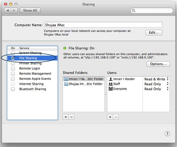 Transfiere archivos extremadamente grandes entre dos Macs