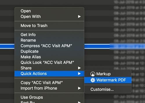 Cómo marcar páginas PDF con marcas de agua utilizando acciones rápidas en macOS