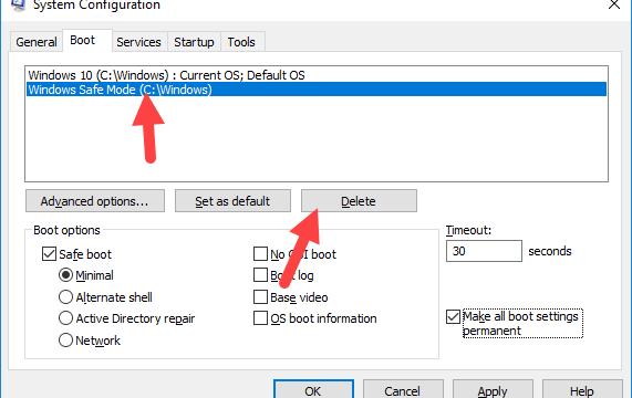 Cómo agregar el arranque seguro a las opciones de arranque de Windows 10