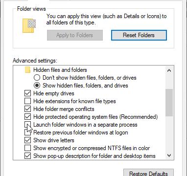 La nueva Windows Build utilizará un proceso separado para las carpetas por defecto