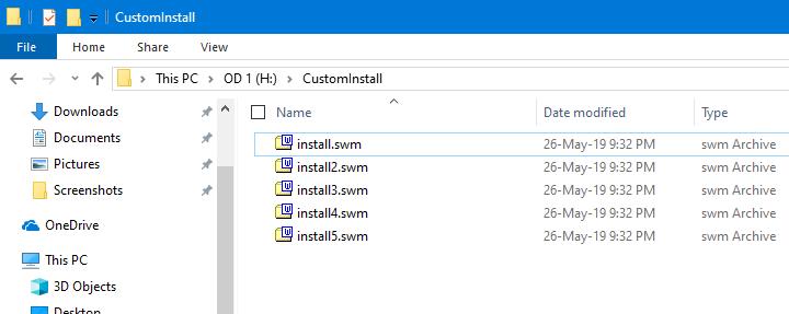 Cómo dividir el archivo Install.wim en más de 4G