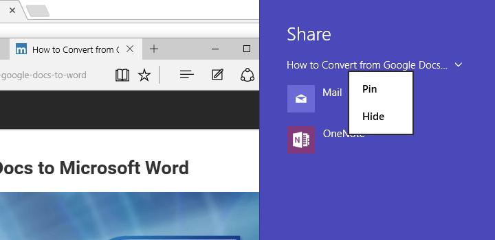 Cómo compartir contenido web Usando Microsoft Edge en Windows 10