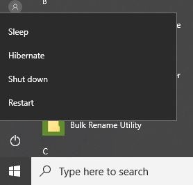 Cómo agregar la opción de hibernación al menú Inicio de Windows