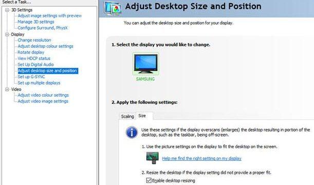 Cómo corregir el sobredesvío al usar el televisor como monitor de PC