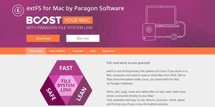 Cómo montar y acceder a la partición Ext4 en Mac