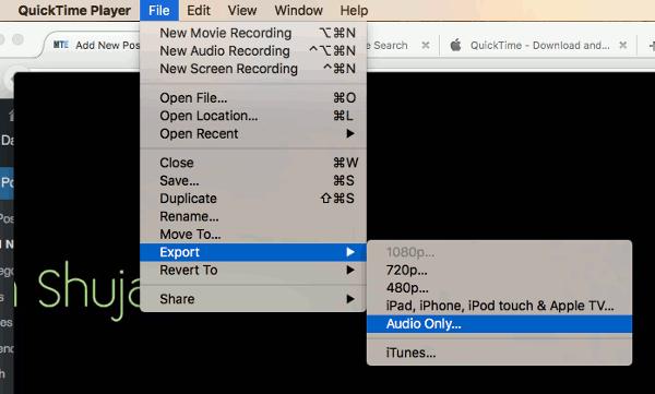 Usar QuickTime para extraer fácilmente audio de archivos de vídeo en Mac[Consejos rápidos]