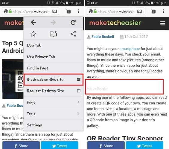5 de los mejores navegadores Android con funciones AdBlockAdemás de en el escritorio, los bloqueadores de anuncios también están disponibles para su dispositivo móvil. Aquí están algunos de los mejores navegadores Android con características adblock.
