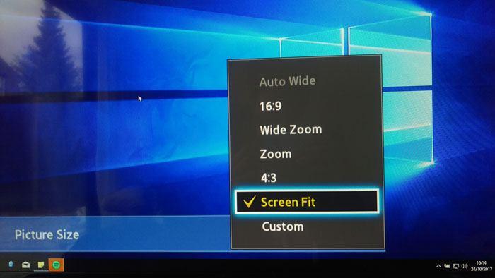 Cómo corregir el sobredesvío al usar el televisor como monitor de PCCuando conecte el escritorio al televisor, es posible que se encuentre con un problema de sobredesviación. A continuación se muestran algunas formas de solucionar el problema de sobreescaneado en un televisor.