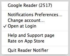 Mantén las pestañas en tus fuentes RSS favoritas con Reader Notifier[Mac]